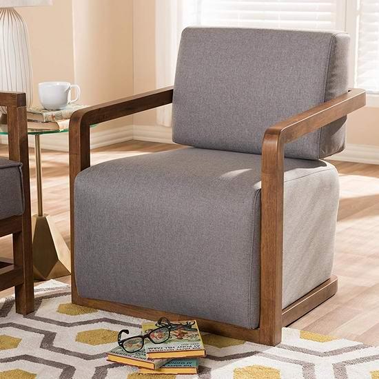 历史新低!Baxton Studio Berdine 中世纪复古单人沙发2.9折 177.1加元包邮!