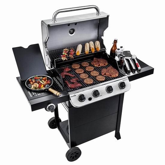历史新低!Char-Broil 463376017 Performance 475 4炉头+边炉不锈钢燃气BBQ烧烤炉 259.99加元包邮!