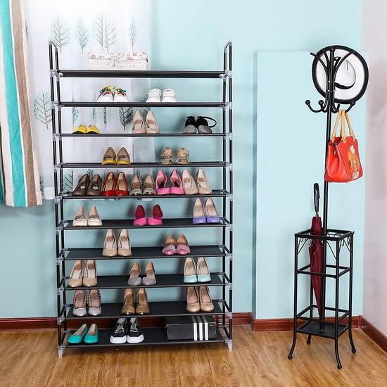 Songmics 10层1.75米超大容量鞋架 35.24加元限量特卖并包邮!3色可选!