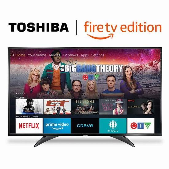 历史新低!Toshiba 东芝 49LF421C19 49英寸1080p全高清 Fire TV版智能电视 329.99加元包邮!会员专享!