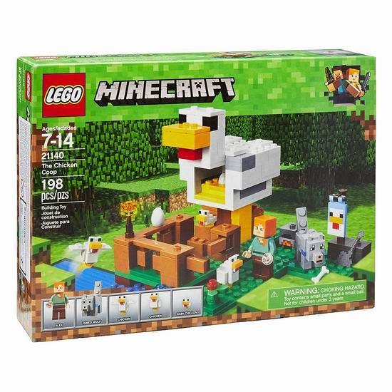 历史新低!LEGO 乐高 21140 我的世界 鸡舍(198pcs)5.6折 14加元!