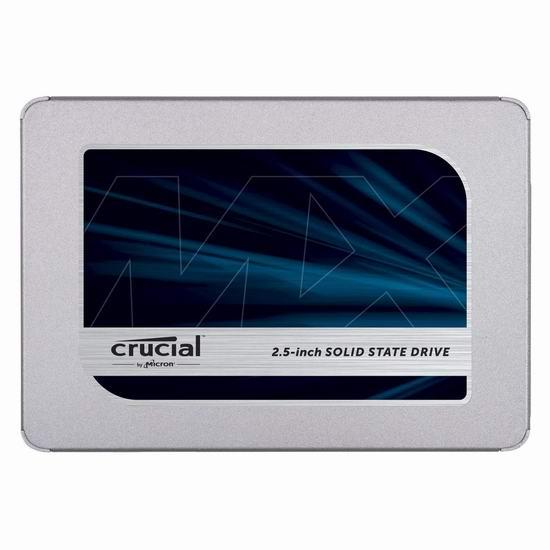 历史新低!Crucial 英睿达 MX500 3D NAND 500GB/1TB 2.5英寸固态硬盘 79.99-149.99加元包邮!