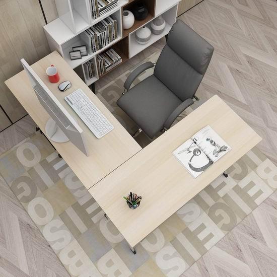 Soges L型时尚电脑桌/办公桌 118加元限量特卖并包邮!2色可选!