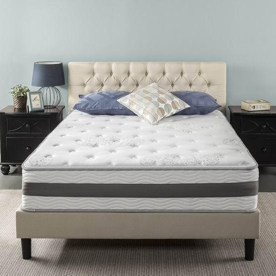 历史新低!Zinus 12英寸凝胶记忆海绵King床垫6.1折 366.16加元包邮!