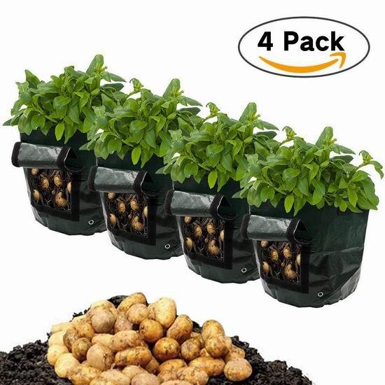 Frideko 7加仑 土豆/番茄/洋葱/胡萝卜 种植袋4件套 14.44加元限量特卖!