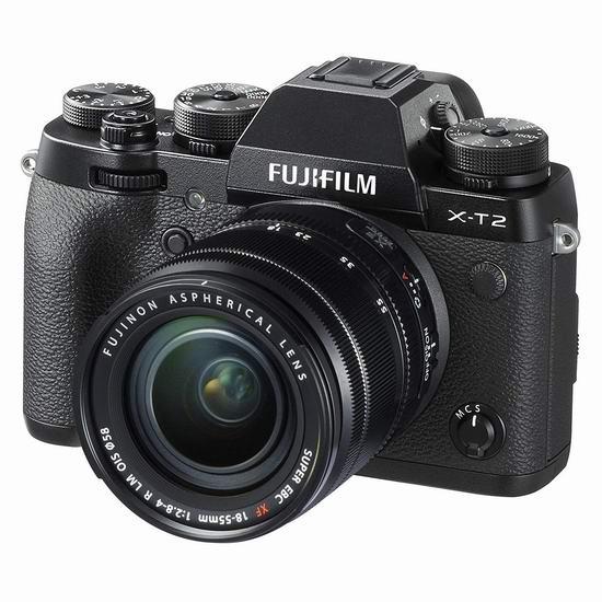 历史新低!Fujifilm 富士 X-T2 XF18-55mm 2430万像素 微单电套机5.7折 1424.99加元包邮!