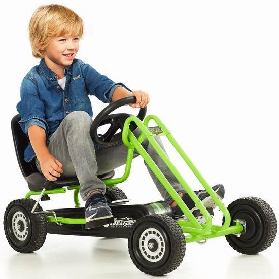 历史新低!Hauck Lightning Pedal Go Kart 脚踏式 儿童四轮卡丁车5.6折 118.97加元包邮!
