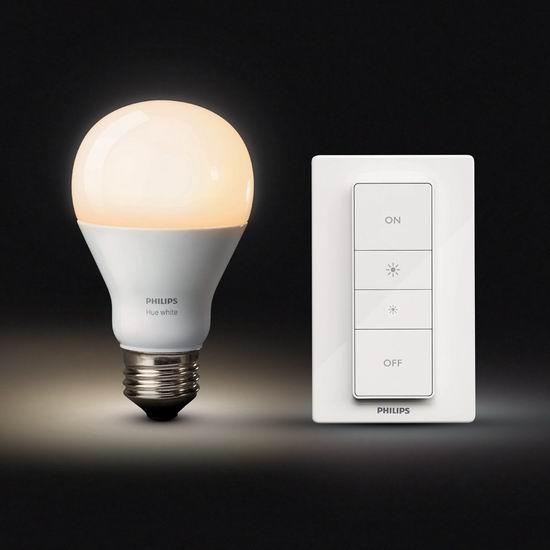 历史新低!Philips 飞利浦 Hue 无线智能调光开关+Hue灯泡 智能照明套装6.4折 28.98加元!
