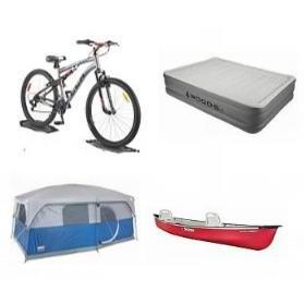 轮胎店国庆大促!精选多款自行车、帐篷、睡袋、充气床、独木舟、遮阳棚、拖车、单车挂架等3折起!