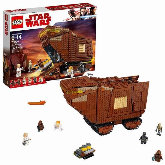 历史新低!Lego 乐高 75220 星球大战 沙漠爬行者 沙垒(1239pcs)6.1折 96.93加元包邮!