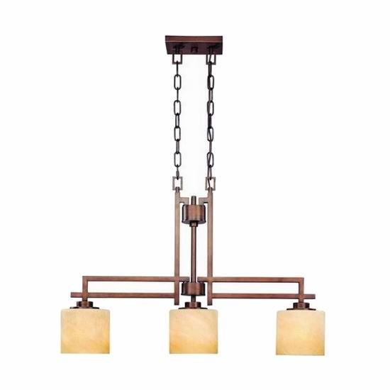 超级白菜!Dolan Designs 2819-133 Roxbury 3灯组复古吊顶灯1.5折 67.83加元包邮!