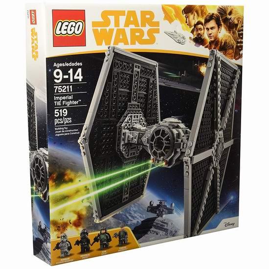 LEGO 乐高 75211 星球大战 帝国钛战机(519pcs)6.6折 59加元包邮!