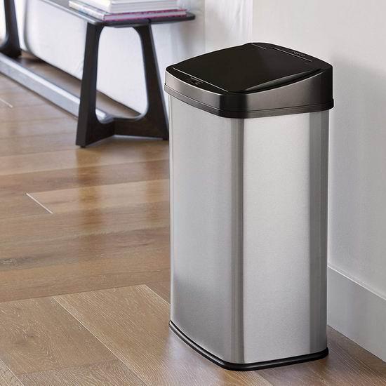 历史新低!NINESTARS DZT-50-28 50升 红外感应式 不锈钢垃圾桶4.3折 78.51加元包邮!