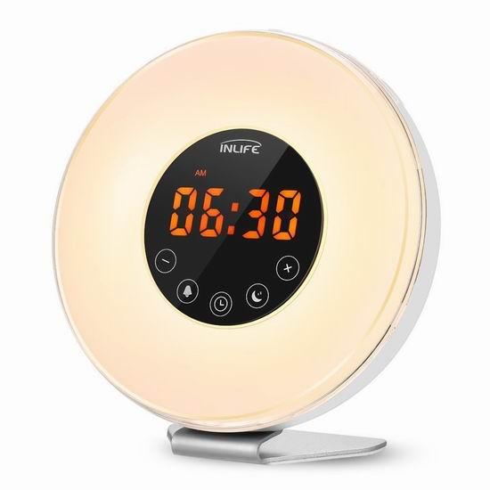 INLIFE 多功能自然唤醒灯 32.99加元限量特卖并包邮!