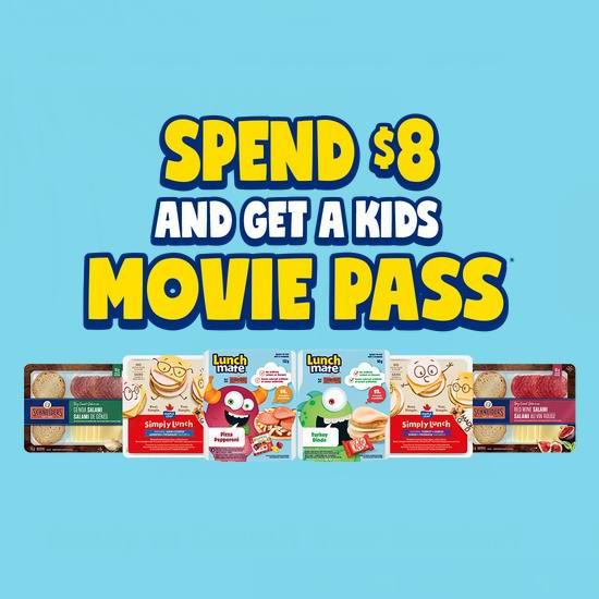 购买 Lunchmates 儿童午餐满8元,送价值9.99加元Cineplex电影票礼品卡!