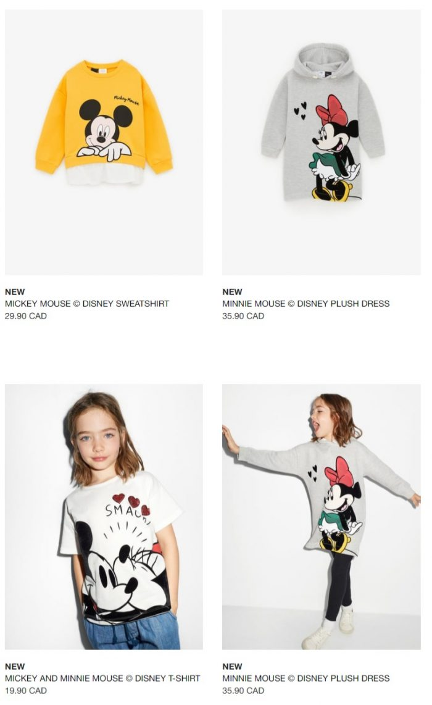 Zara × Disney 合作系列 超级可爱Tee 火热销售!售价 16.99-29.99加元!