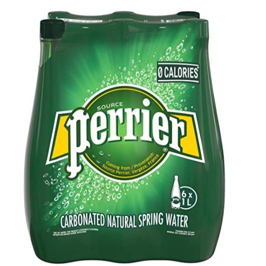Perrier 天然含气矿泉水/巴黎水1升x6瓶 5.99加元,原价 9.56加元
