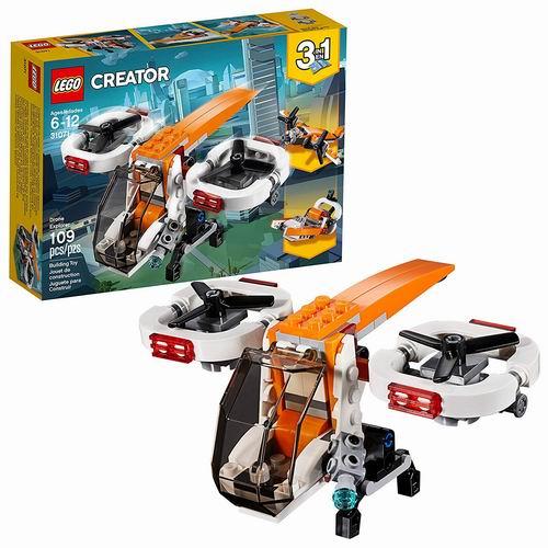 LEGO 乐高 31071 三合一 创意百变系列 双旋翼无人机 9加元,原价 12.99加元