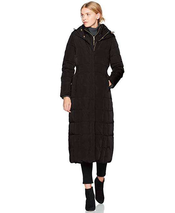 Cole Haan Taffeta 女士长款羽绒服 102.12加元(M码),原价417.25加元, 包邮