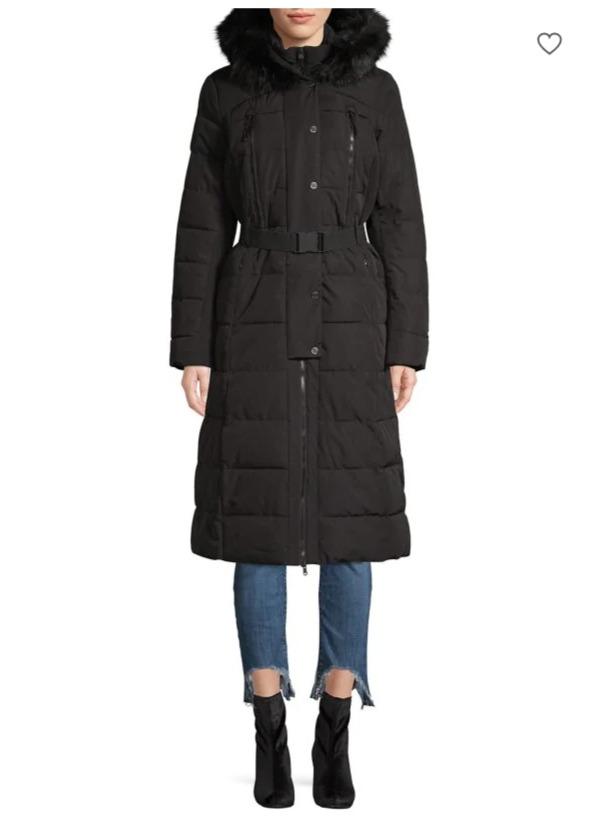 Michael Kors Maxi 女士束腰长款带帽长款防寒服 238加元,原价 425加元,包邮
