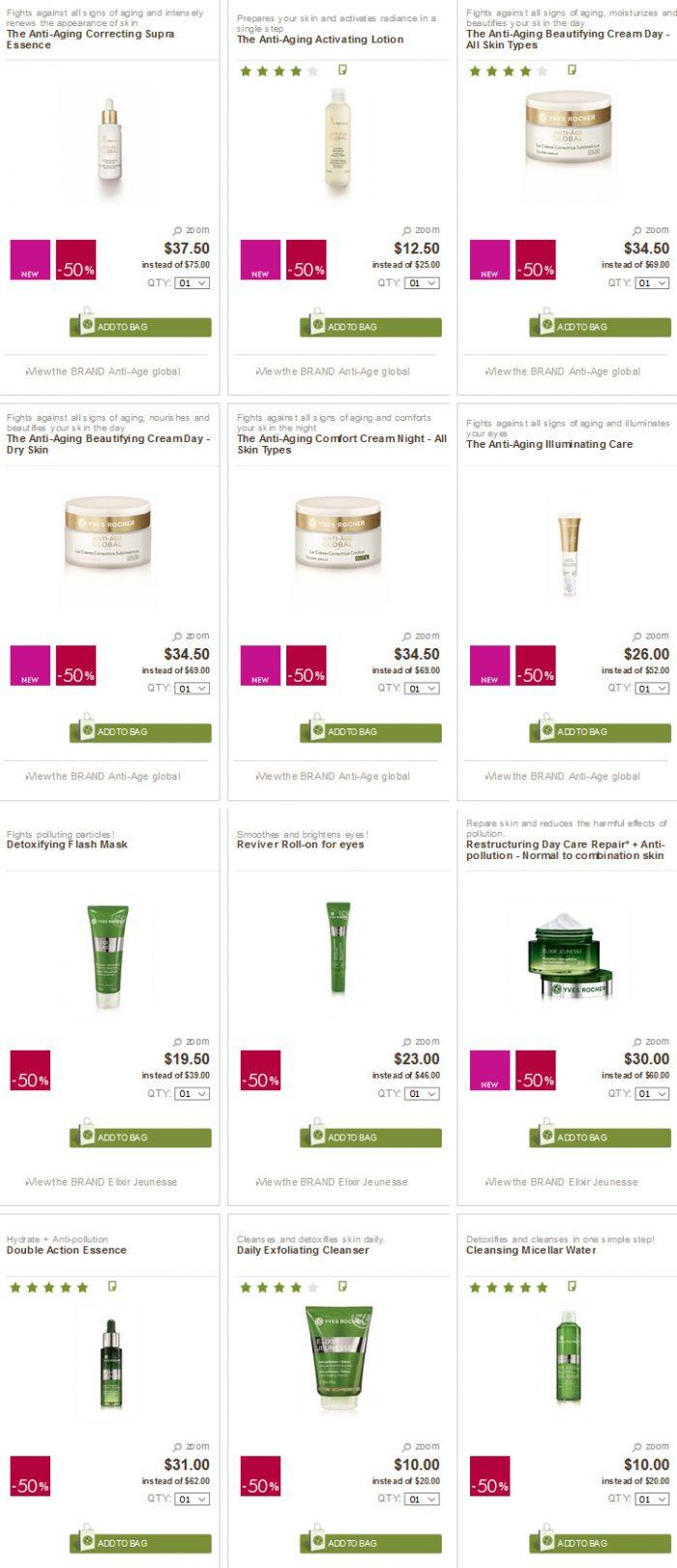 法国大热植物生态护肤品牌!Yves Rocher 伊夫·黎雪护肤品 5折优惠!