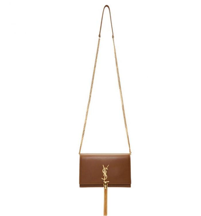 Saint Laurent Kate Tassel棕色流苏链条包 1613加元,原价 2180加元,包邮