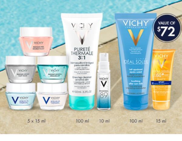 Vichy 薇姿 满60加元送价值72加元9件套大礼包!入89号肌底液、超值装!