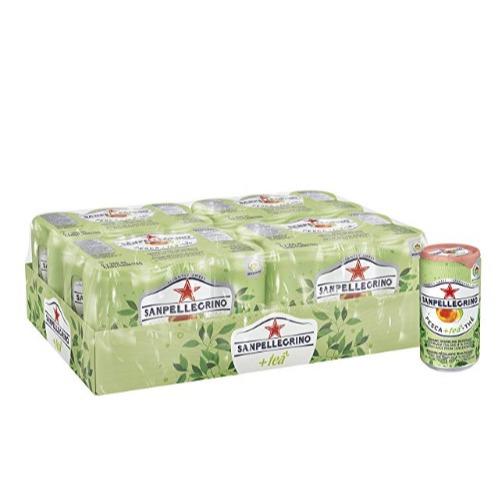 San Pellegrino 意大利桃子味冰茶汽水 250毫升×24瓶  15.92加元,原价 22.99加元
