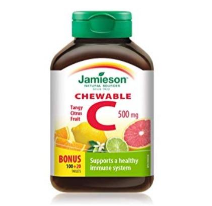 Jamieson 健美生 橙味VC 咀嚼片(120片) 3.79加元,原价 5.78加元
