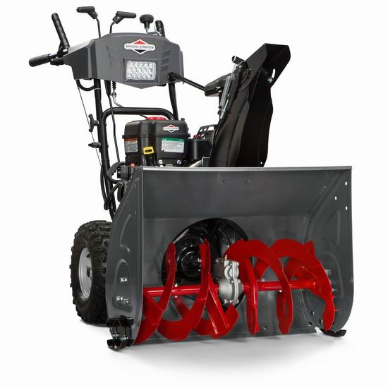 逆季清仓!历史新低!Briggs & Stratton 1696619 250cc 27英寸双阶汽油铲雪机5.6折 727.88加元包邮!