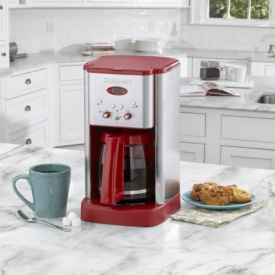 历史新低!Cuisinart 美膳雅 DCC-1200RT 12杯量 可编程咖啡机5.8折 75.7加元包邮!