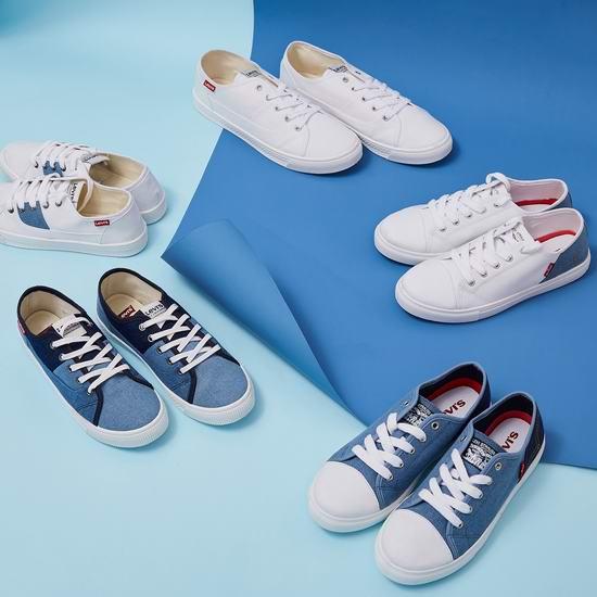 白菜价!精选 Levi's 李维斯 女式休闲鞋、运动鞋、凉鞋、拖鞋全部4折清仓!低至14加元+包邮!