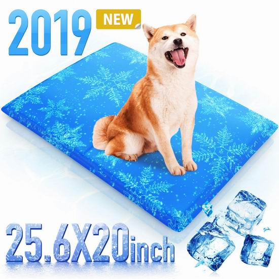 Houselog 多用途 宠物猫狗/办公椅沙发/笔记本电脑 凝胶降温垫/降温枕 12.27加元!