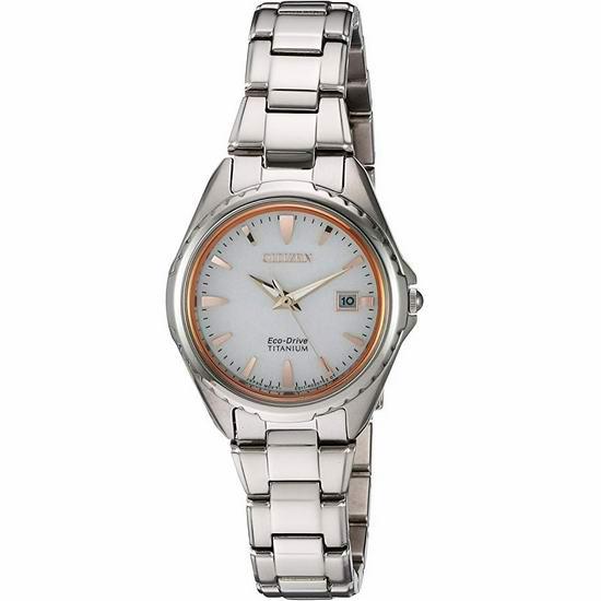 Citizen 西铁城 EW2410-54A 超级钛 光动能女式腕表/手表4折 187.76加元包邮!