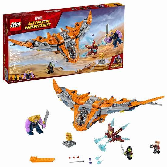历史新低!LEGO 乐高 76107 超级英雄系列  灭霸终极之战(674pcs)5.4折 49加元包邮!