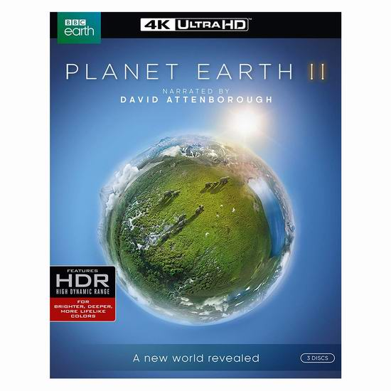 历史新低!BBC纪录片《Planet Earth II 行星地球2》4K超高清蓝光影碟版 22.99加元!