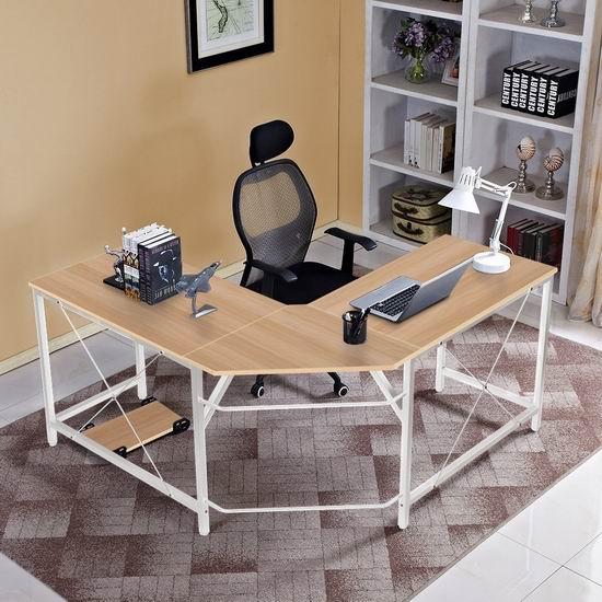 DlandHome L型时尚电脑桌/办公桌 129-149加元包邮!3色可选!