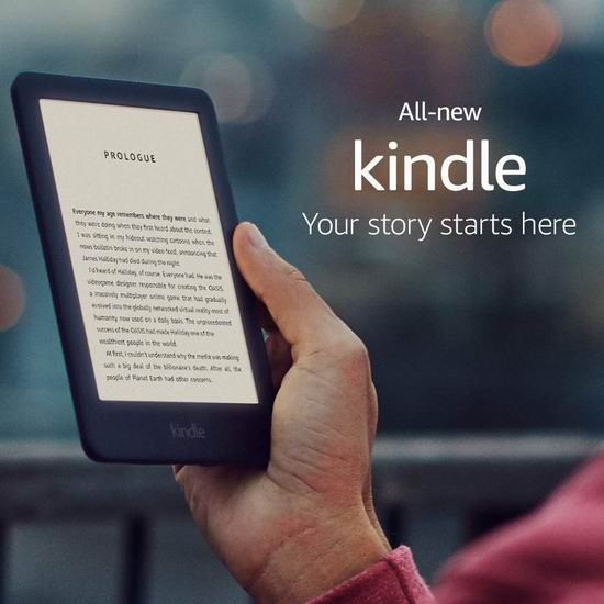 新款 All-new Kindle 6英寸 入门级 电子书阅读器 89.99加元包邮!2色可选!