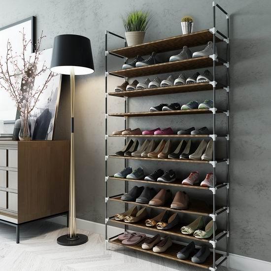 历史新低!Sable 10层1.72米超大容量鞋架 30.99加元限量特卖并包邮!