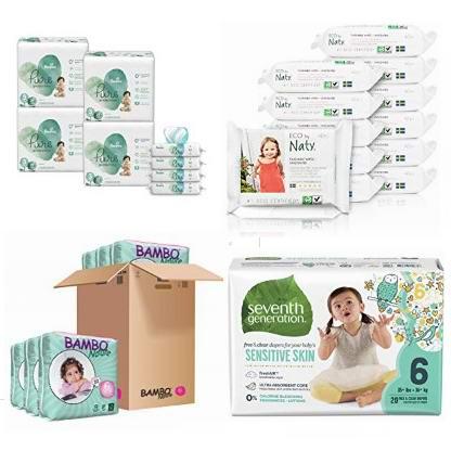 精选 Pampers、Bambo Nature、Seventh Generation 高级环保 婴幼儿尿不湿、湿巾纸4.3折起!