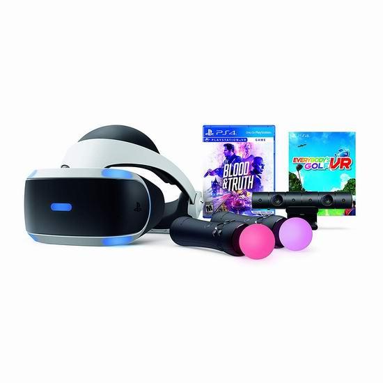 历史新低!PlayStation VR头显 + PS4体感摄像头 + 2 动态控制器 + 《鲜血与真相》 +《全民高尔夫》超值套装 379.99加元包邮!会员专享!