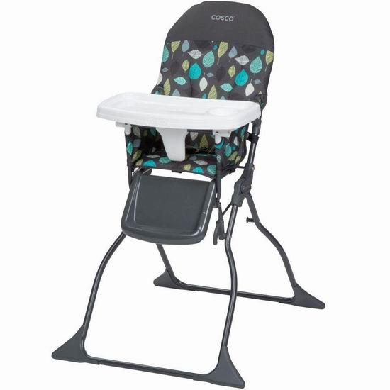 历史新低!Cosco Simple Fold 可折叠婴幼儿高脚餐椅 44.97加元包邮!2色可选!