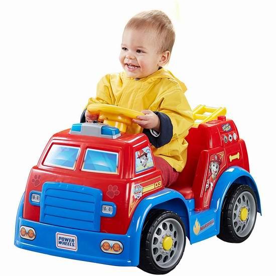 历史新低!Fisher-Price 费雪 儿童电动巡逻消防车5.2折 88加元包邮!