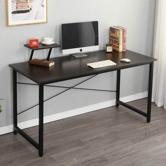历史新低!Soges JK140-BK-CA 47英寸/55英寸 时尚电脑桌/书桌 89-99加元限量特卖并包邮!