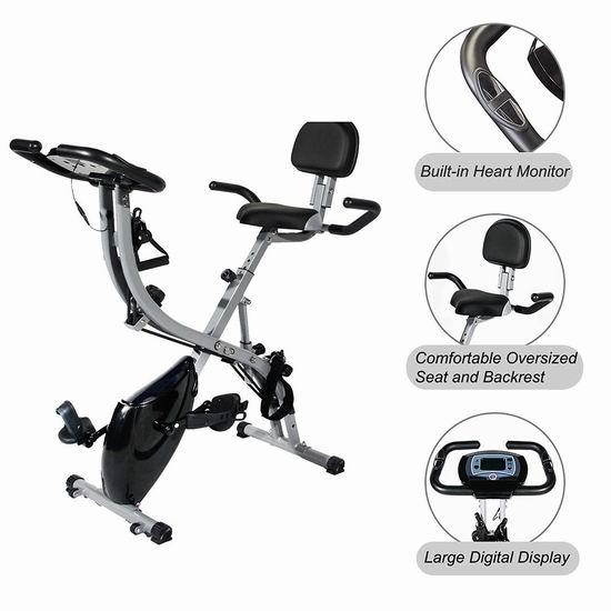 soges 可折叠立式健身自行车 126-176加元限量特卖并包邮!2款可选!