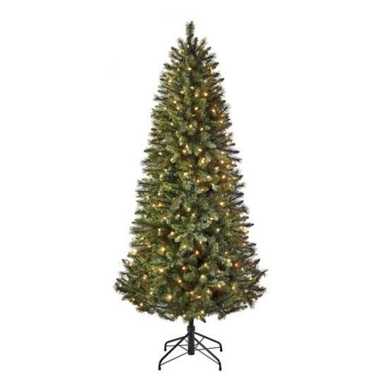 逆季清仓!Glucksteinhome Acadia 7英尺预装LED灯圣诞树2.5折 89.25加元清仓!