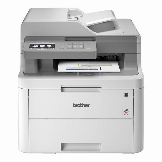 历史最低价!Brother MFCL3710CW 多功能无线彩色激光打印机6折 299.99加元包邮!