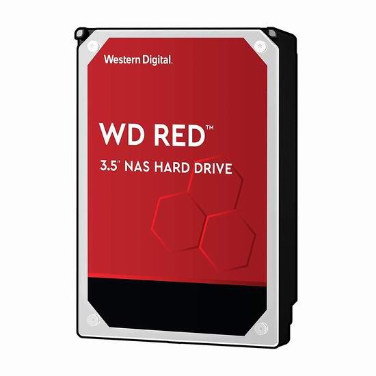 历史新低!Western Digital 西数 WD Red 红盘 WD100EFAX 3TB 网络储存(NAS)硬盘 105.5加元包邮!
