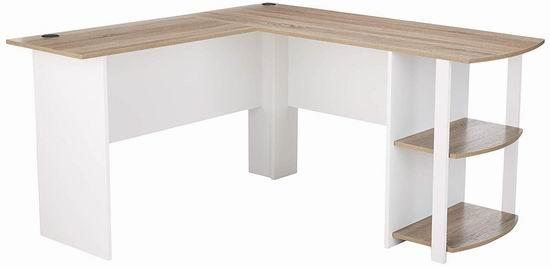 历史新低!Altra Furniture Dakota L型办公桌/书桌/电脑桌 99.98加元包邮!