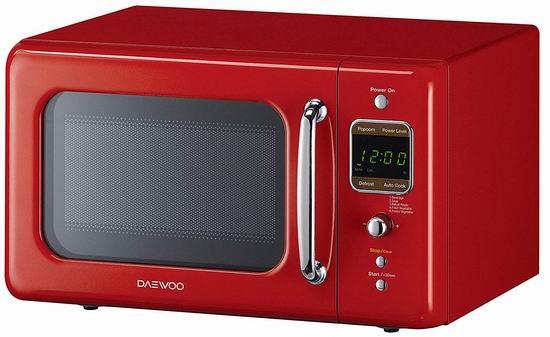 历史新低!Daewoo KOR-7LRER 高颜值 复古红色微波炉4.4折 77.04加元包邮!会员专享!